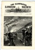 1875 ILLUSTRATED LONDON NEWS Thames Steam Ferry Wapping MADRID CHARCOAL 8881